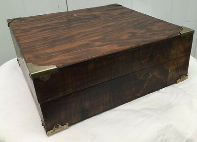 Antique Victorian Mahogany jewelry / Document Box