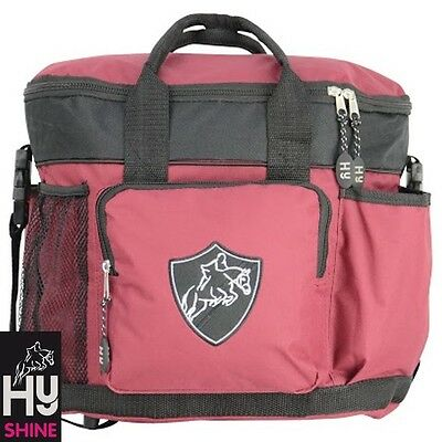 HySHINE Pro Grooming Bag – Burgandy & Black – Handy Bag For Competition Days