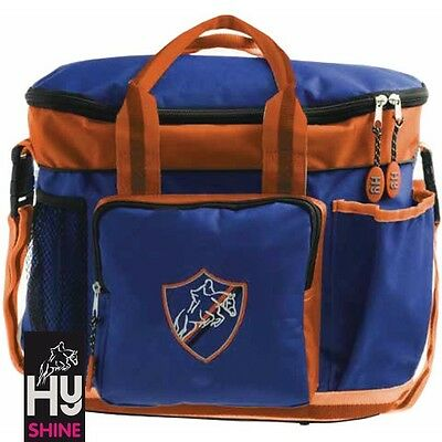 HySHINE Pro Grooming Bag – Navy & Orange – Handy Carry Bag For Competition Days