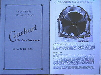 CAPEHART OPERATING MANUAL Turn over changer 100M