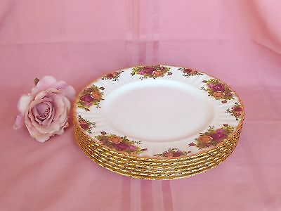 Set~6~Genuine~Vintage~c1962~Royal~Albert~Old~Country~Roses~English~Dinner~Plates