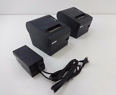 LOT OF 2 Epson TM-T88IIIP POS Point of Sale Thermal Receipt Printer M129C