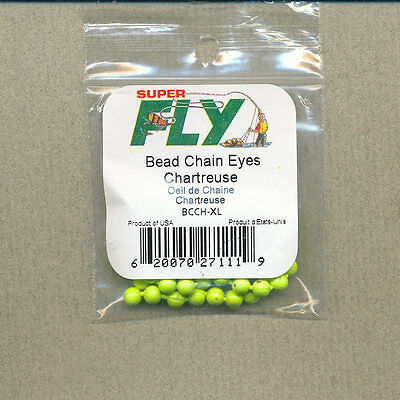 Bead Chain Eyes - chartreuse - X-large