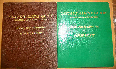 Beckey Cascade Mountains Alpine Guide 2 Volume Set Climbing Hiking Routes Maps++