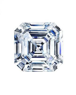 2CT Forever One Moissanite Loose Stone Asscher Cut 8mm Charles & Colvard