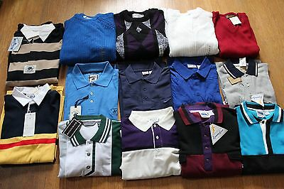 Lot of 14 Vintage & Modern Men's Casual Shirts/Sweaters Size Large Mixed NWT