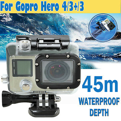 Waterproof Case Diving Protective Housing Clear For GoPro Hero 3 3+ 4 Go Pro