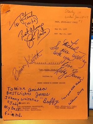 """FAMILY AFFAIR 1967-Episode """"My Friend Stanley""""-Signed By Cast!!!!-ORIG. SCRIPT"""