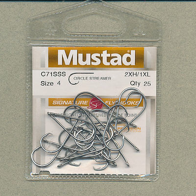 Mustad - C71SSS - circle streamer - size  02 - qty 25
