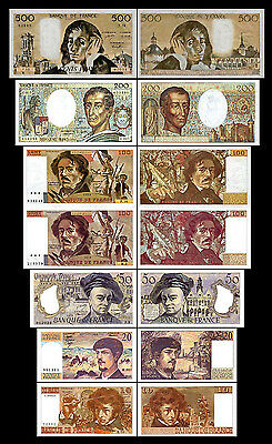 * * * 10,20,50,100,100,200,500 Francs - Issue 1968-1997 - 7 Banknotes - 02 * * *