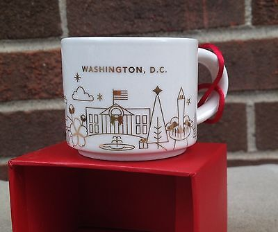 NWT STARBUCKS 2014 Christmas Ornament You Are Here YAH Washington DC Limited