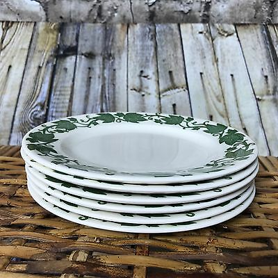 "Set of 6 Royal USA China English Ivy Plates Bread and Butter 6 3/8"" Vintage"
