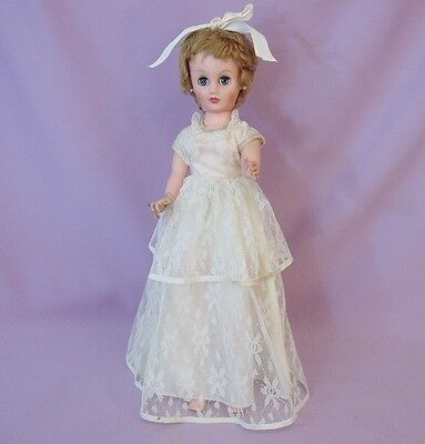 "19""  FASHION TEEN BRIDE DOLL by EEGEE 1960s ORIGINAL CLOTHES"