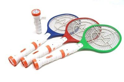 DLUX Electric Bug Zapper Racket, Fly Swatter, Rechargeable, Dual LED Flashlight