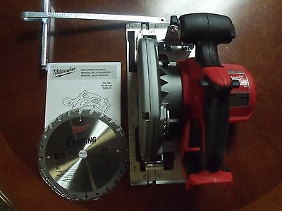 "NEW Milwaukee 2630-20 Circular Trim Saw 6 1/2"" 18v M18 Red Lithium Cordless"