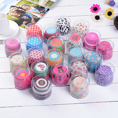 Greaseproof Paper Cake Cup Liners Muffin Kitchen Baking Wedding Party DIY 100X