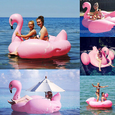 Fancy Giant Pink Flamingo Swimming Pool Toy Float Inflatable Summer Swim Ring AU