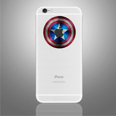 Captain America Shield Sticker Viny Decal iPhone 6, 6Plus, 6s,6s Plus, 7,7 Plus