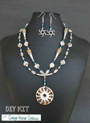 Summer Soleil DIY Jewelry Making Necklace Bead Kit with Instructions