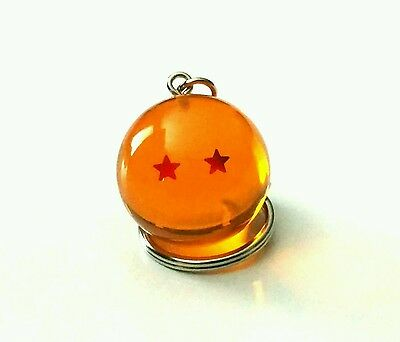 New Dragon Ball Z - 2 Star Keychain keyring 3D!  Japanese anime