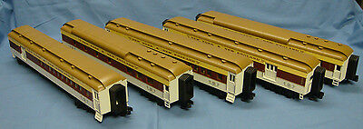 MTH New York & New England Passenger Car Set (5) O Scale  Excellent Lighted