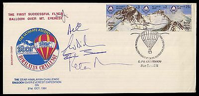 NEPAL 1sT BALLOON FLIGHT OVER MOUNT EVEREST HIMALAYA SIGNED COVER