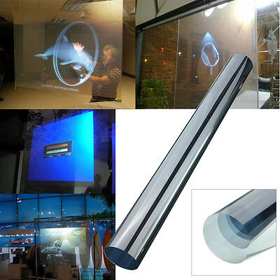 60x120CM Self Adhesive Holographic Rear Projection Screen Material Window Film