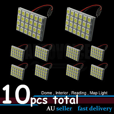 10x Car 24V 24SMD LED Interior Map Roof Light Dome for Toyota Prado 2000-on