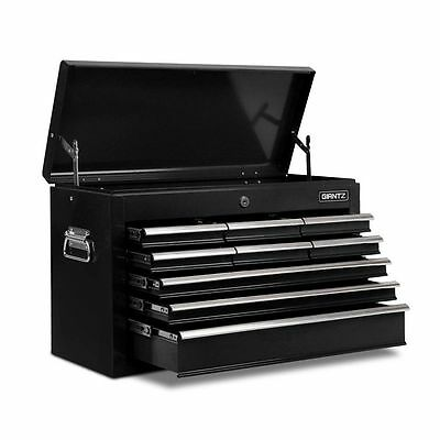 Giantz 9 Drawers Mechanic Toolbox Storage Chest Cabinet Trolley Roller Tool Box