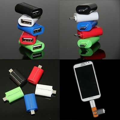 New OTG Adapter Male To Female Micro USB2.0 Converter for Samsung S3 S4 Note2