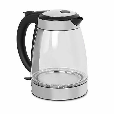 1.7L 5 Star Chef Electric Glass Kettle LED Light Cordless Kitchen Water Jug Pot