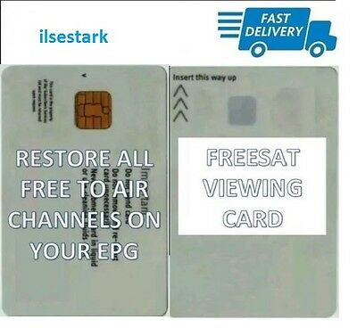 FREESAT VIEWING CARD PLUS AND HD Quick Free Post! PIN code included.