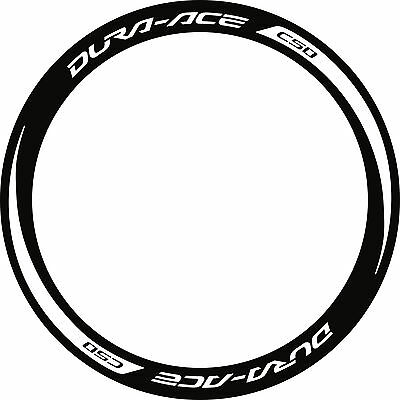Reflective Dura Ace C50 2014 Rim Decal Set  For Two Wheels