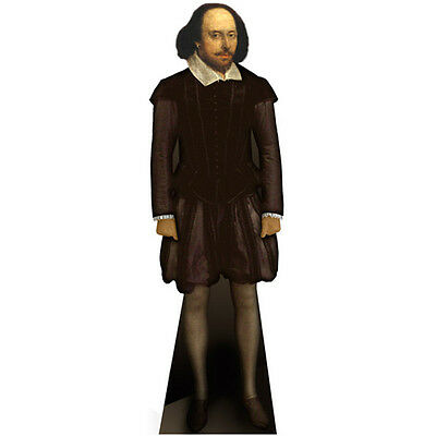 WILLIAM SHAKESPEARE Lifesize CARDBOARD CUTOUT Standup Standee Poster FREE SHIP