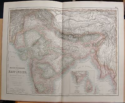 1874 Antique Large Fullarton Map- The British Possessions In The East Indies
