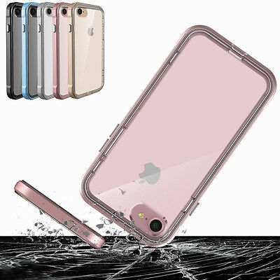 Clear Shockproof TPU Bumper Hard Back Case Cover For iPhone 8 6 X Plus XS Max XR