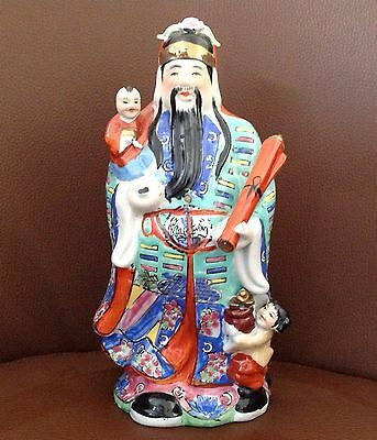 """Large Chinese Lu Statue Figurine God of Fortune, 11"""""""