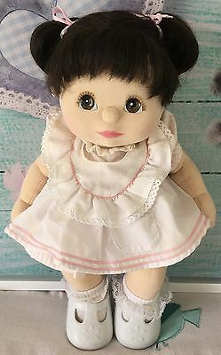 My Child Doll Blonde Double Ribbons Aqua Eyes *Sold NUDE*