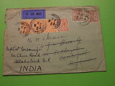 Cover India - England Returned To India 1929 From Imperial Bank Of India