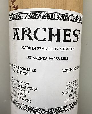 """Arches Watercolour Paper Roll 100% Cotton 185 gsm Rough 44.5""""X10 yards"""