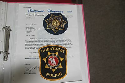 2 Patches from Cheyenne Police Department Wyoming