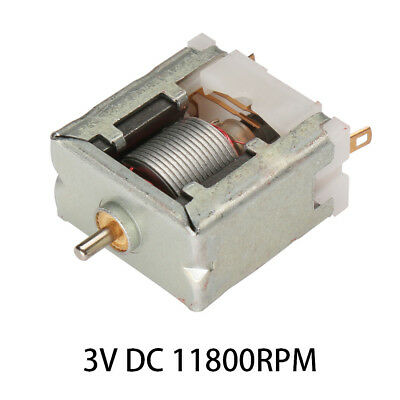 3VDC 11800RPM High-power Torque Magnetic Mini Electric Motor 2 Terminals Connect