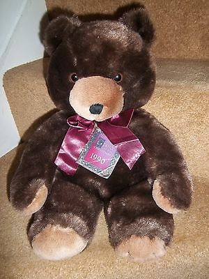 """NEW 18"""" HARRODS FOOT DATED 1990 CHRISTMAS 27th BIRTHDAY GIFT TEDDY BEAR SOFT TOY"""