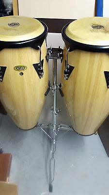 "2x   CP  CONGAS  DRUM  SET  AND  STAND  10""  11""   Old Set"