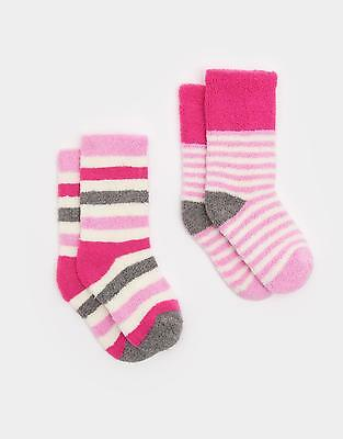 Joules Terry Set Of Two Super Soft & Warm Towelling Cotton Socks in Pink