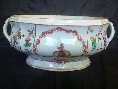 Antique 18th century Chinese C1760 Qianlong Indian export porcelain tureen 乾隆帝