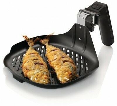 Philips HD9910/20-Accessory for Airfryer Grill Pan Non Stick-Black