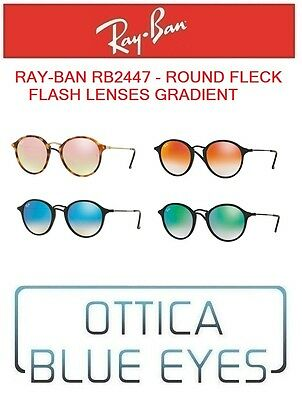 Occhiali da Sole RAYBAN RB2447 round fleck flash lenses grad Sunglasses RAY  BAN b6bae12bae