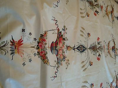 laura ashley fabric material large vintage toile chintz floral 100% cotton