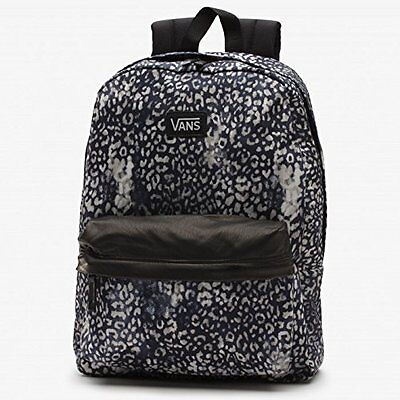Vans Backpack Bag Cheetah Leather like detail Brown Grey Black